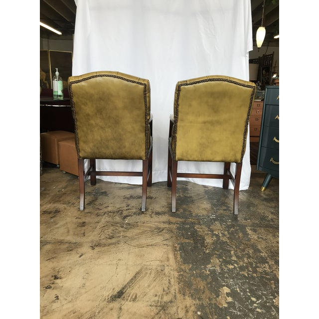 Chesterfield Guest Chairs - a Pair For Sale - Image 9 of 11