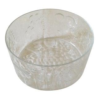 Vintage Scandinavian Glass Bowl For Sale