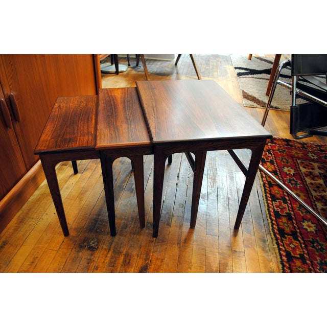 Danish Rosewood Nesting Tables - Set of 3 - Image 5 of 9