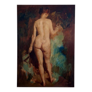 Early 20th Century Large Nude Oil Painting
