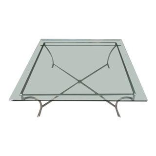 Larsen Style Metal & Glass Coffee Table