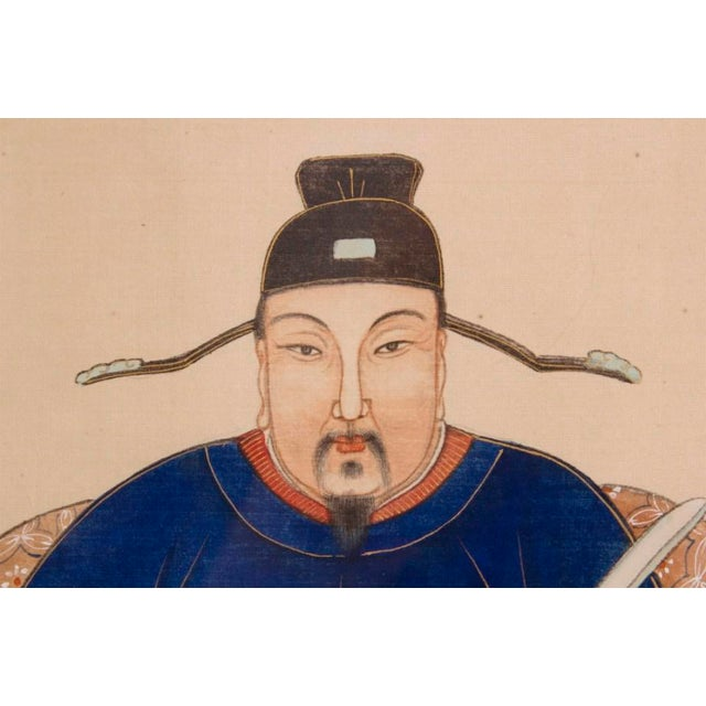 Asian Mid 19th Century Chinese Ancestor Portrait Painting For Sale - Image 3 of 3