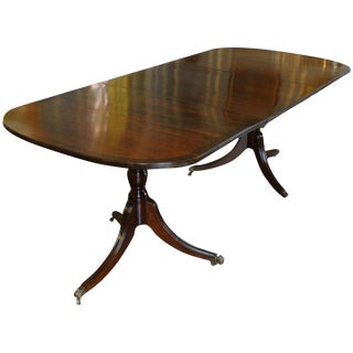 George III Double Pedestal Dining Table