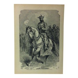"""1916 """"Indian Prince the Maharajah of Gwalior"""" With the World's People Print For Sale"""