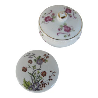 Vintage Flower Jewelry Boxes - a Pair