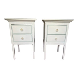Ambiente Two Drawer Dresser Bedside Tables - a Pair For Sale