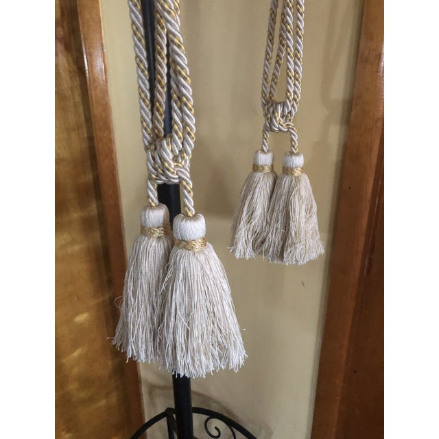 """Gorgeous tie back tassels from Samuel & Sons. 3"""" d for each tassel 5.5"""" tassels with 17"""" cord"""