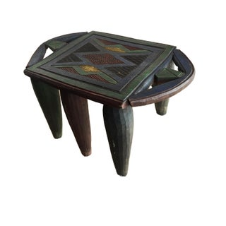 "African Lg Nupe Stool / Table Nigeria 12.25 H by 20.5"" W Preview"