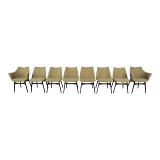 Adrian Pearsall for Craft Associates Mid-Century Modern Dining Chairs, Set of Eight For Sale