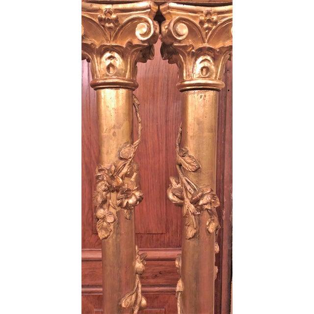 Set of 4 Antique 19th Century Florentine Gold Columns, Circa 1850.