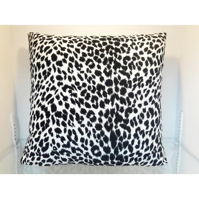 Black & White Leopard Print Pillow - Image 2 of 4