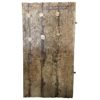 18th Century Asian Primitive Wood Panel For Sale