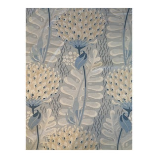 Thibaut Tiverton Linen Blend Fabric in Spa Blue 2 3/8 Yards For Sale