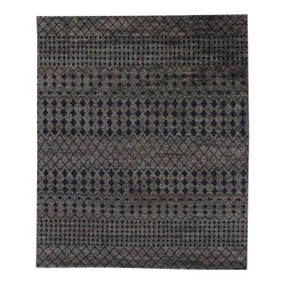 "Stark Studio Rugs Kiri Rug in Grey/Navy, 9'0"" x 12'0"" For Sale"