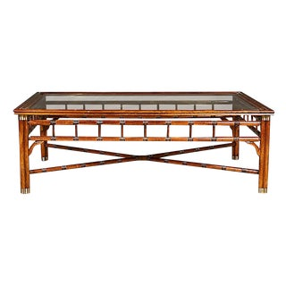 1960s Bamboo-Style Coffee Table For Sale