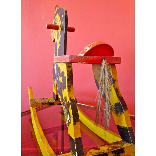 "The ""Real"" Wooden Rocking Horse For Sale - Image 4 of 6"
