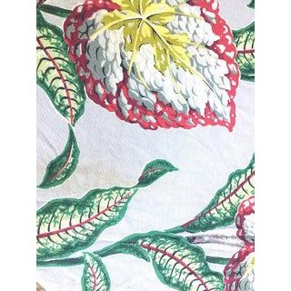 Floral Barkcloth Curtain Panel For Sale