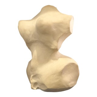 Modernist Abstract Nude Stone Torso Sculpture For Sale