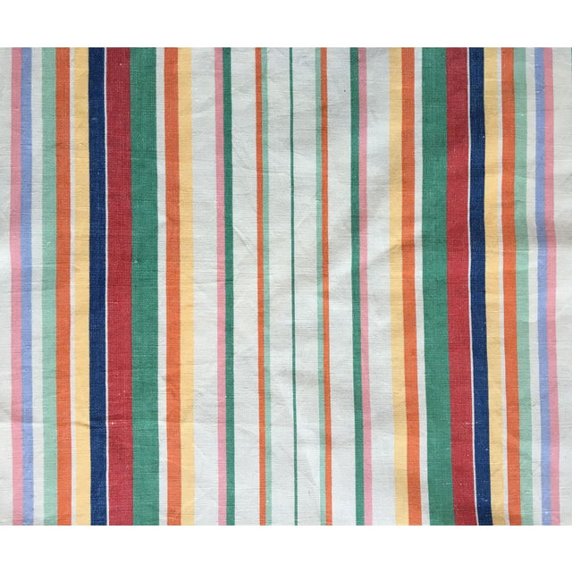 """Moving Sale - Make an Offer - Everything Must Go - Ralph Lauren """"Didier Stripe"""" Cotton Linen Fabric For Sale"""