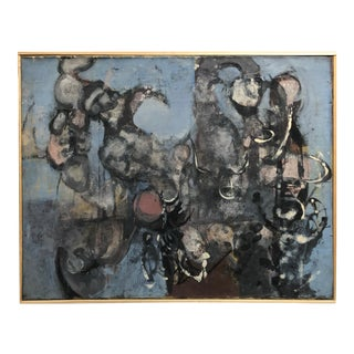 Important Vintage Ny Abstract Expressionism Painting 1950s For Sale
