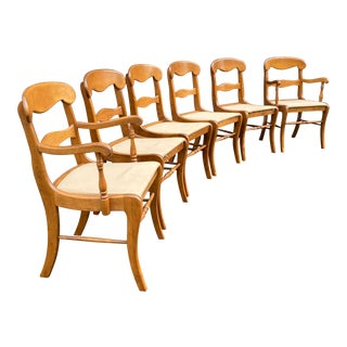 Baumritter Maple Dining Chairs - Set of 6 For Sale