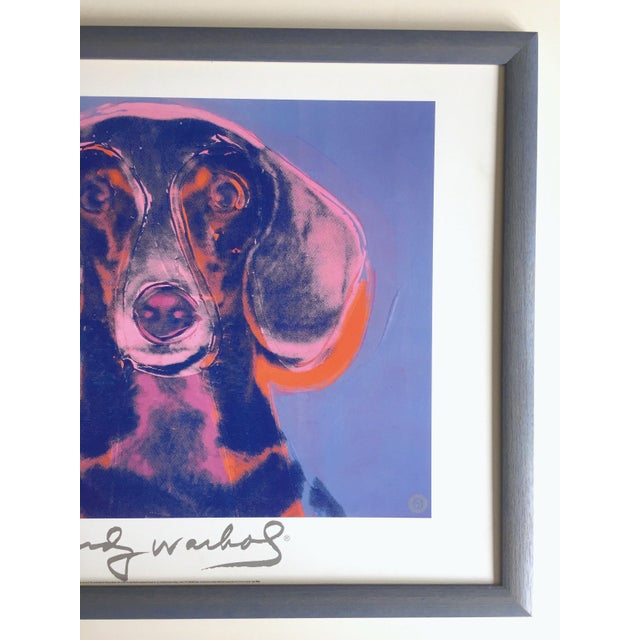 "Contemporary Andy Warhol Foundation Vintage 1998 Rare Lithograph Print Framed Poster ""Portrait of Maurice"" 1976 For Sale - Image 3 of 13"