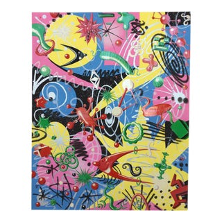 "Kenny Scharf 1997 ""Grammy"" Signed Lithograph Poster"