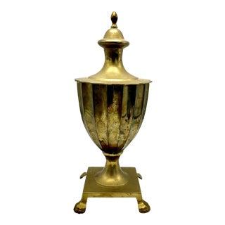 Hollywood Regency Brass Pedestal Urn