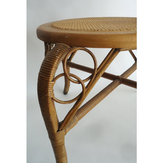 Late 19th Century Vintage Heywood Wakefield Victorian Wicker Photographer's Chair For Sale - Image 6 of 12