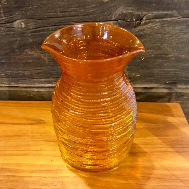 Blenko Mid-Century Modern Orange Glass Pitcher - Image 2 of 8