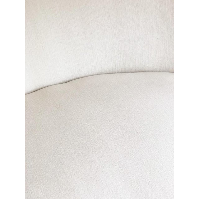 Abstract 1990s Vintage Vladimir Kagan Bilbao Serpentine Kidney Curved Sofa For Sale - Image 3 of 5