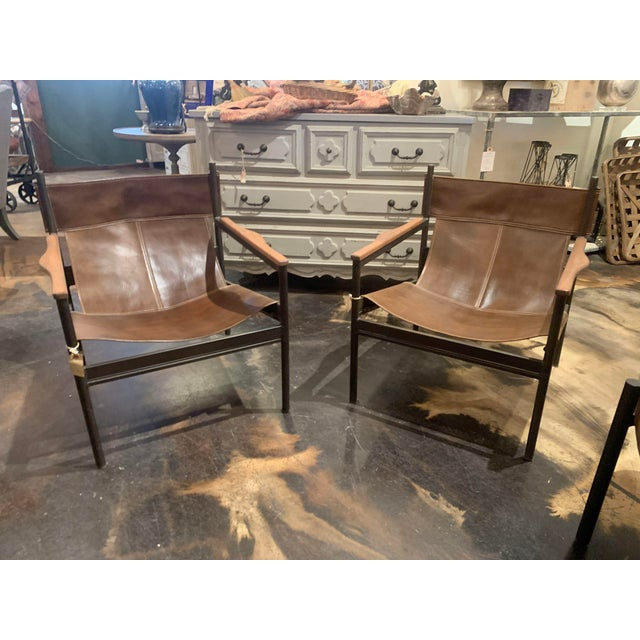 Vachetta Coffee Leather Barcelona Chair by Cisco Brothers For Sale - Image 10 of 13