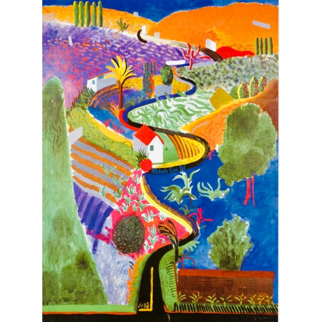 2001 Original David Hockney Nichols Canyon Exhibition Poster Denmark For Sale In Tampa - Image 6 of 7