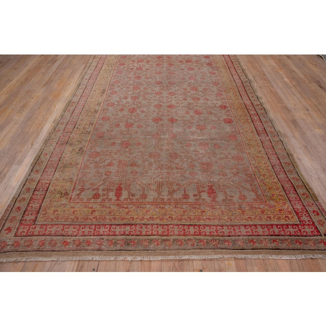 Boho Chic Colorful Khotan Gallery Carpet - 6′8″ × 13′4″ For Sale In New York - Image 6 of 9