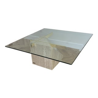 Artedi Tessellated Stone Marble Coffee Table For Sale