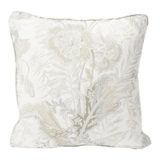 Schumacher Double-Sided Pillow in Sandoway Vine Linen Print