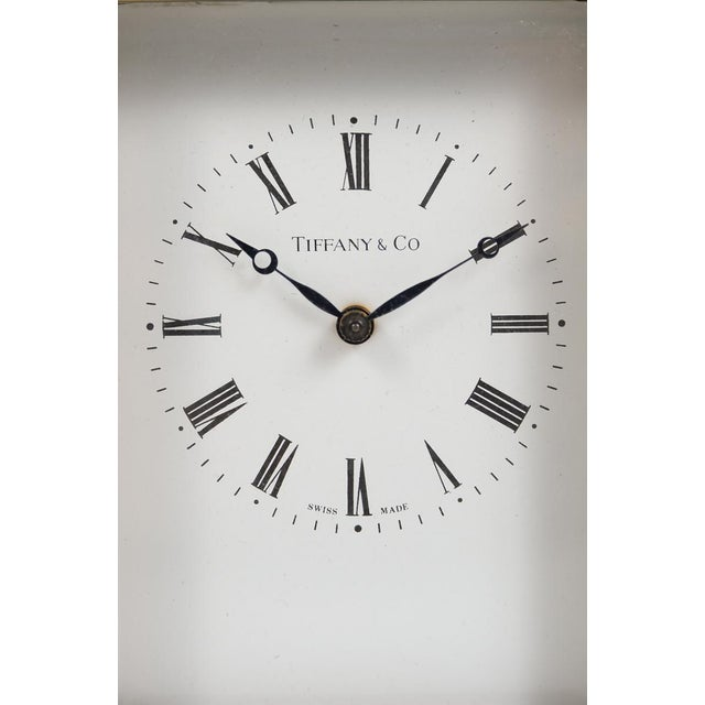 Art Deco Tiffany & Co. Vintage Brass Carriage Clock For Sale - Image 3 of 9