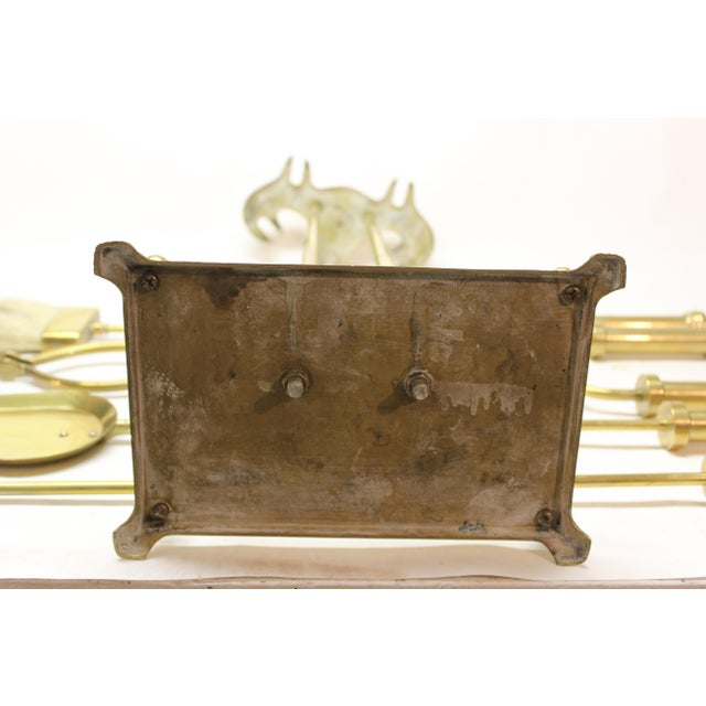 Mid-Century Modern Brass Fire Tools For Sale - Image 4 of 10