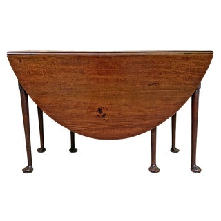 18th Century English Queen Anne Gate-Leg Table For Sale