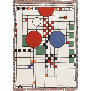 Mid-Century Modern Design Rug by Frank Lloyd Wright - 4′ × 5′8″ For Sale