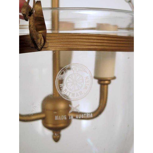 austrian export r ditmar single glass bell jar pendant light chairish