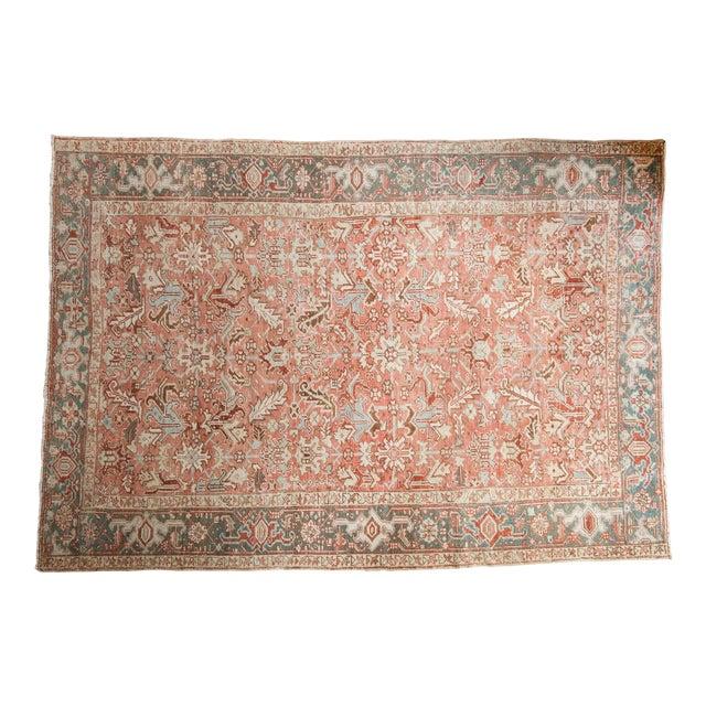 "Vintage Distressed Heriz Carpet - 6'8"" X 9'6"" For Sale"