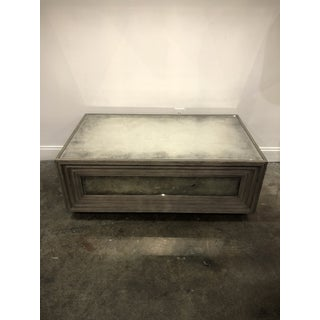Rustic Bernhardt Coffee Table With Antiqued Mirror and Wood Preview