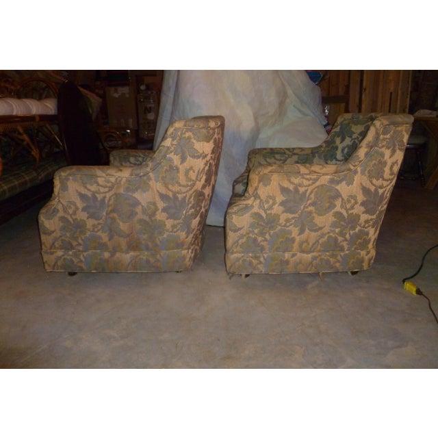 Vintage Henredon Barrel Tub 2 Club Chair Good Frames - a Pair Mid Century Modern MCM Offer For Sale - Image 10 of 10