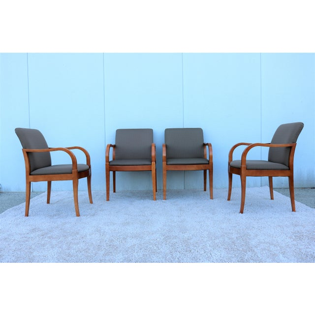 Beautiful Set of Four Guest or Dining Arm Chairs, Well Constructed High-end Quality Mid-century modern Great for Home or...