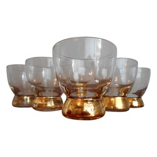 Gold Base Cocktail Glasses - Set of 6 For Sale