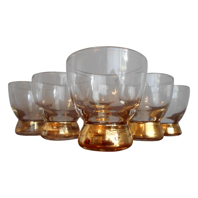 Gold Base Cocktail Glasses - Set of 6 - Image 1 of 5