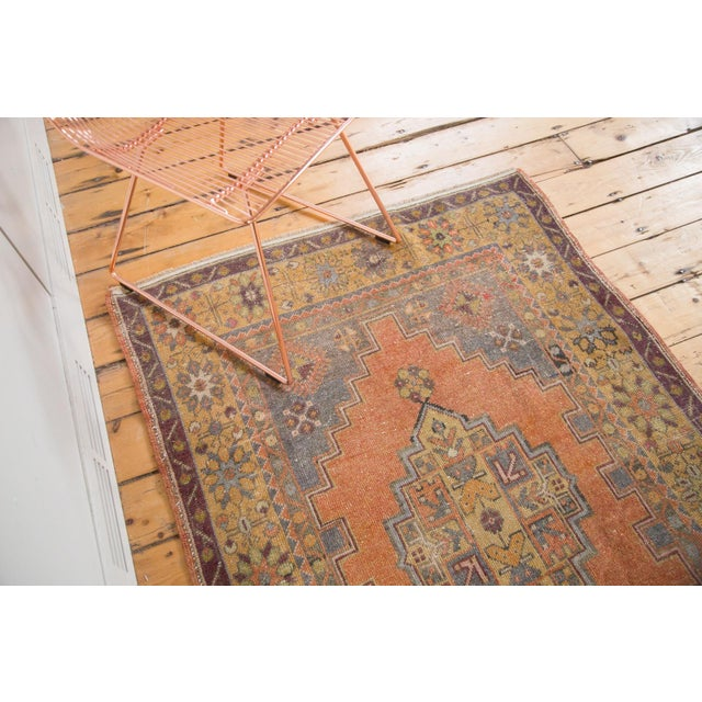 "Vintage Distressed Oushak Rug - 3'9"" x 6'6"" - Image 6 of 11"