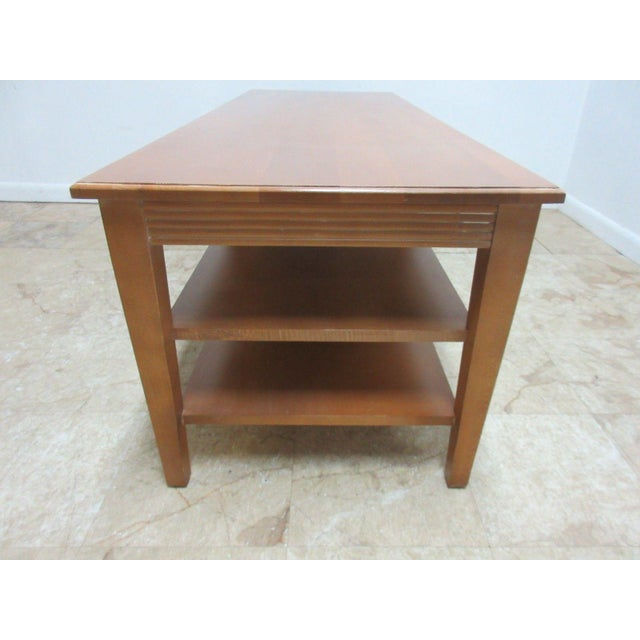 Used Ethan Allen Coffee Tables: Ethan Allen Swedish Home Long Coffee Table