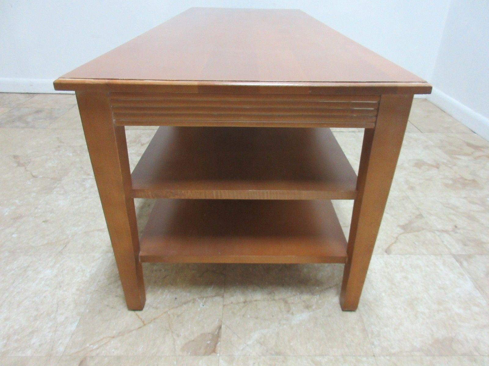 Ethan Allen Ethan Allen Swedish Home Long Coffee Table For Sale   Image 4  Of 8